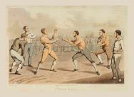 'A Prize Fight' from the National Sports of Great Britain, 1823
