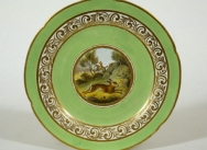 Crown Derby Plate - Hare Running