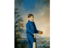 Young Boy Holding a Cricket Bat and Ball (Pack of 5)